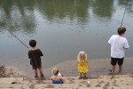 Kids fishing day at the Asheville Outdoor Center