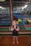 Day 1 of gymnastics. She loved it!