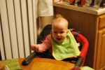 Big girl in her high chair
