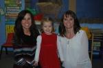 With her preschool teachers