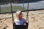 She loves swinging!