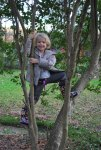 Climbing trees is her new thing