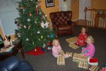 After they spent time giving, they got to open presents