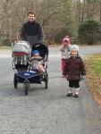 Family walk in early Jan