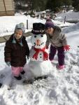 Finally got to build a snowman!