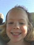 Abigail's first selfie. Heh