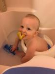 This boy loves bathtime!