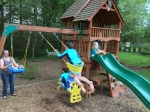 Loving the swing set