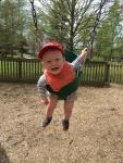 Boy loves to swing