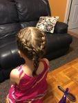 Madilyn's hair request--so proud I pulled it off!