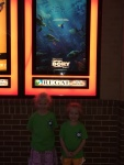 First movie in the theater for these two: Finding Dory