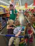 Grocery shopping with 4 kids