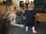 Pile on Daddy!