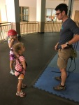 YMCA rock climbing