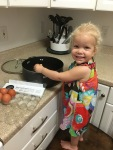 Helping in the kitchen